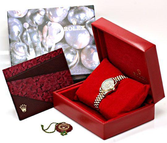 Foto 6, Rolex Datejust Tridor Damen Diamanten Geprüft Neuzust.!, U1112