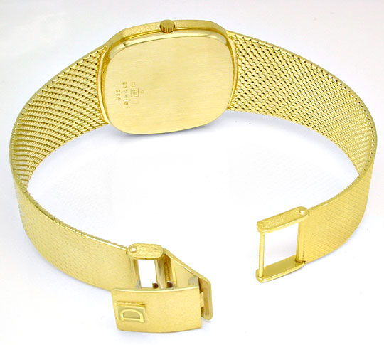 Foto 4, Dugena Herren Armbanduhr 14K Gelbgold Topuhr Neuzustand, U1113