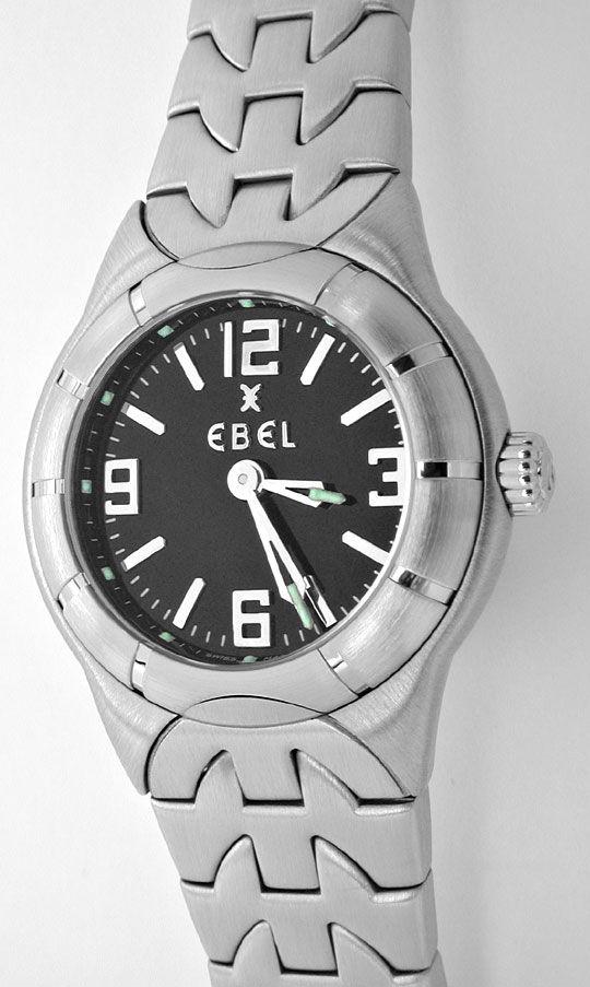 Foto 2, Ebel E Type Mini Damen Armbanduhr ST Topuhr Ungetragen!, U1115