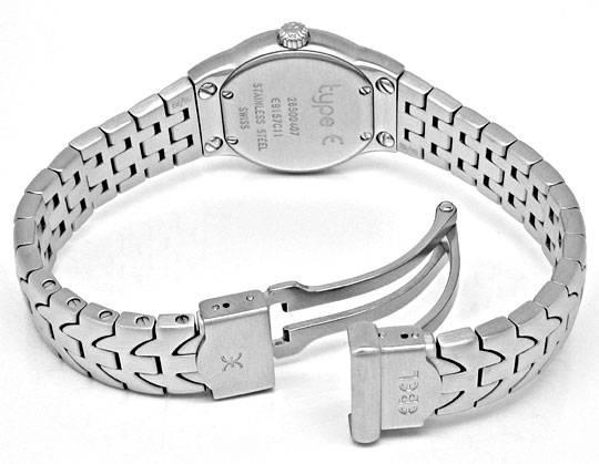 Foto 4, Ebel E Type Mini Damen Armbanduhr ST Topuhr Ungetragen!, U1115