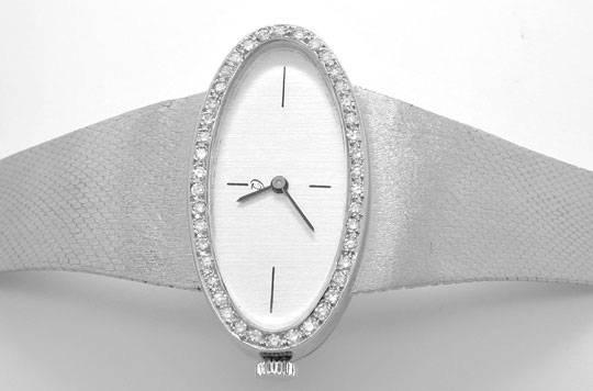 Foto 1, Diamant Damen Armbanduhr Weissgold River Lupenr. Topuhr, U1117