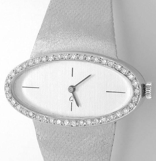 Foto 2, Diamant Damen Armbanduhr Weissgold River Lupenr. Topuhr, U1117