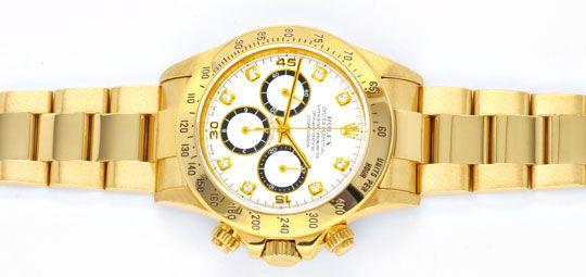 Foto 1, Rolex Cosmograph Daytona Gold Diamanten, Geprüft Neuz.!, U1124