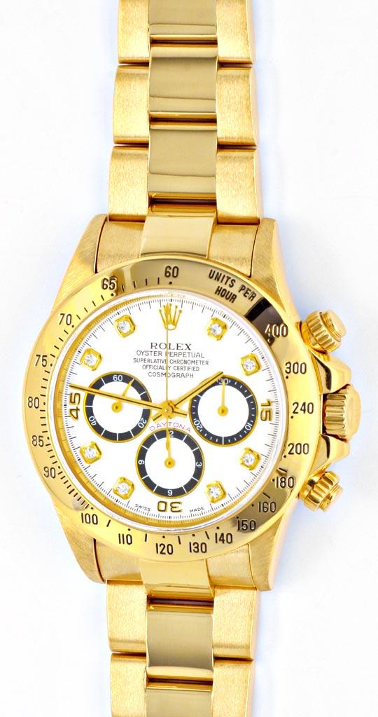 Foto 2, Rolex Cosmograph Daytona Gold Diamanten, Geprüft Neuz.!, U1124