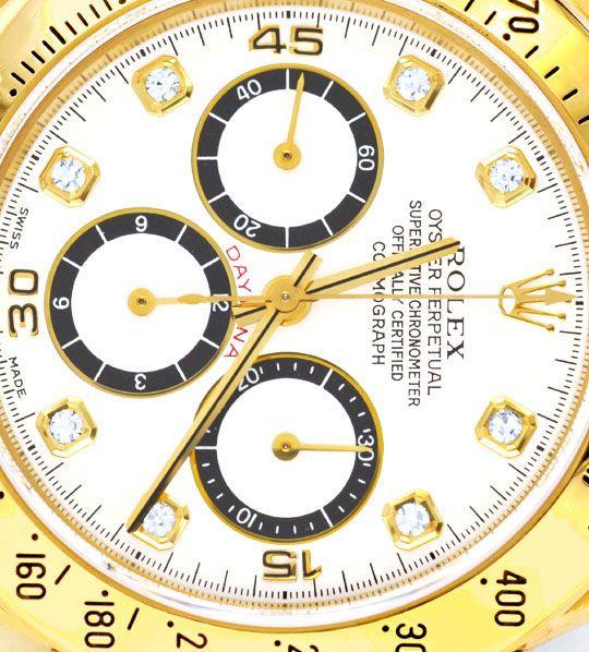 Foto 3, Rolex Cosmograph Daytona Gold Diamanten, Geprüft Neuz.!, U1124