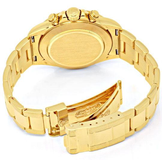 Foto 4, Rolex Cosmograph Daytona Gold Diamanten, Geprüft Neuz.!, U1124