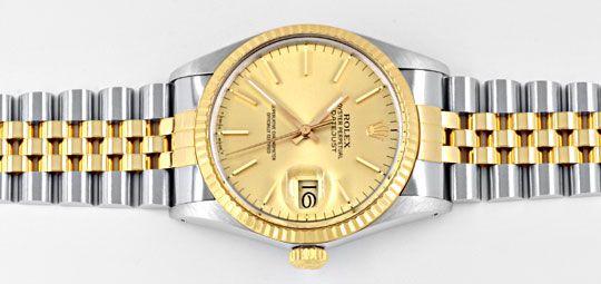 Foto 1, Rolex Datejust Herren Armbanduhr Stahlgold Topuhr Neuz., U1136