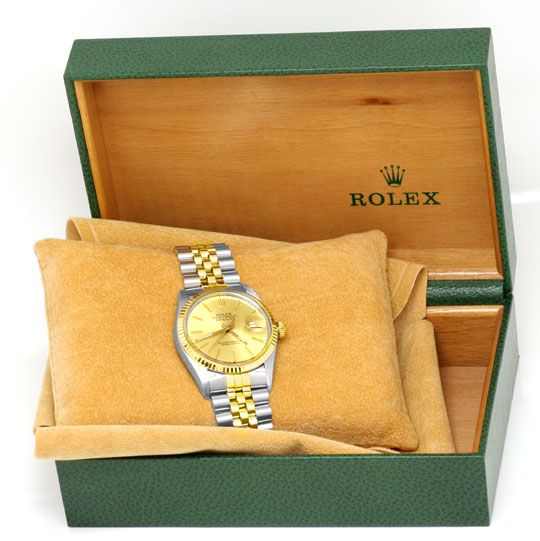 Foto 5, Rolex Datejust Herren Armbanduhr Stahlgold Topuhr Neuz., U1136
