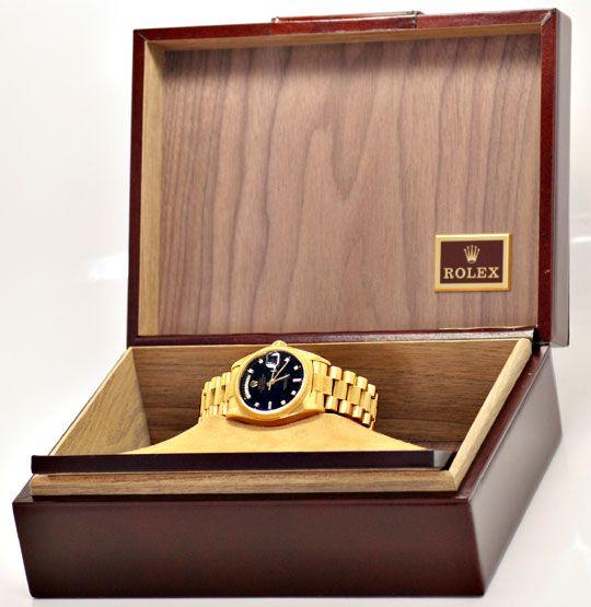Foto 5, Rolex Day Date Rinde Diamantzifferblatt Schwarz Geprüft, U1138