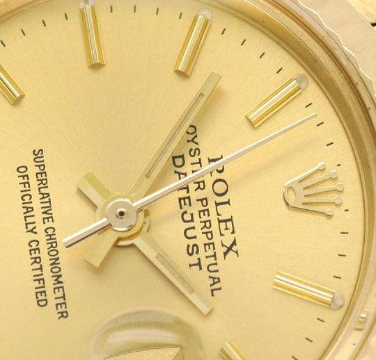 Foto 3, Rolex Damen Uhr Datejust Oyster Perpetual, Gold Geprüft, U1148