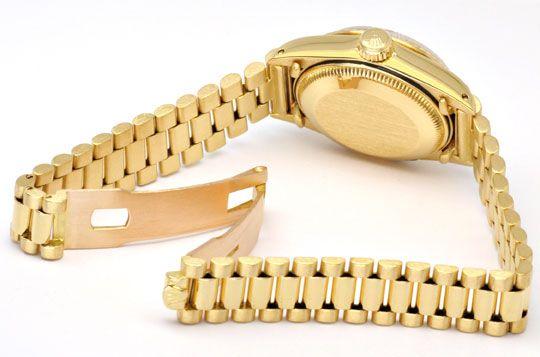Foto 4, Rolex Damen Uhr Datejust Oyster Perpetual, Gold Geprüft, U1148
