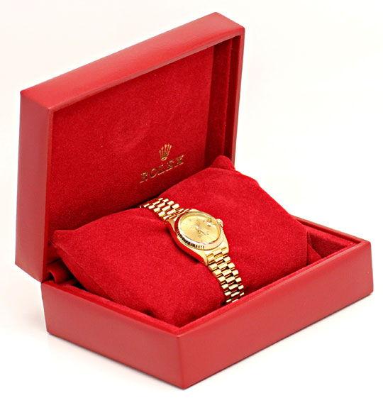 Foto 5, Rolex Damen Uhr Datejust Oyster Perpetual, Gold Geprüft, U1148