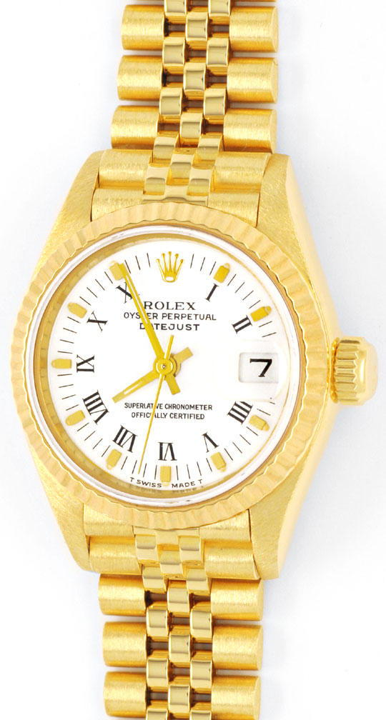 gold rolex datejust oyster perpetual damen uhr gepr ft u1150. Black Bedroom Furniture Sets. Home Design Ideas