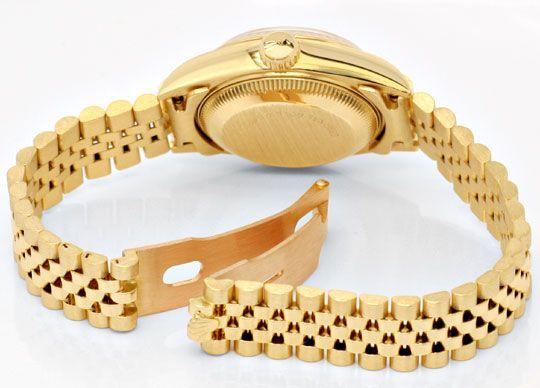 Foto 4, Gold Rolex Datejust Oyster Perpetual, Damen Uhr Geprüft, U1150