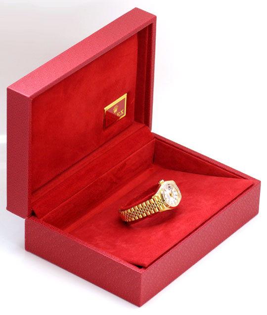 Foto 5, Gold Rolex Datejust Oyster Perpetual, Damen Uhr Geprüft, U1150