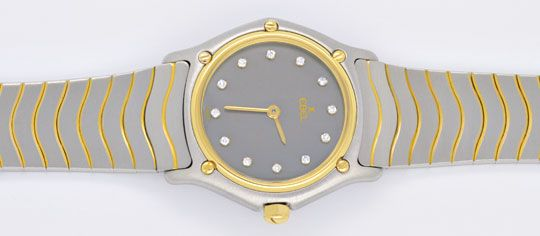 Foto 1, Ebel Da Sport Classic Classique, Diamant Ziffern Topuhr, U1151
