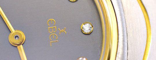 Foto 3, Ebel Da Sport Classic Classique, Diamant Ziffern Topuhr, U1151