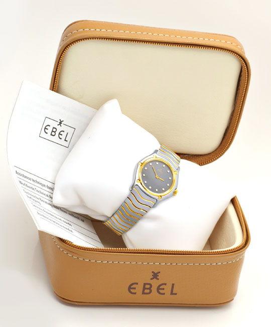 Foto 5, Ebel Da Sport Classic Classique, Diamant Ziffern Topuhr, U1151