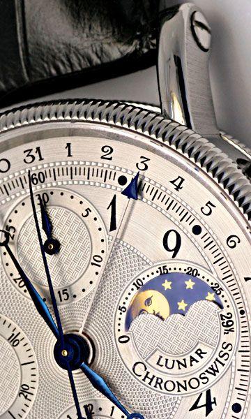 Foto 4, Chronoswiss Lunar Chronograph Mondphase Stahl Hr Topuhr, U1154