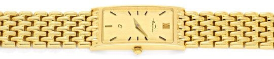 Foto 1, Massiv Goldene Damen Armbanduhr Goldband, Priosa Topuhr, U1155