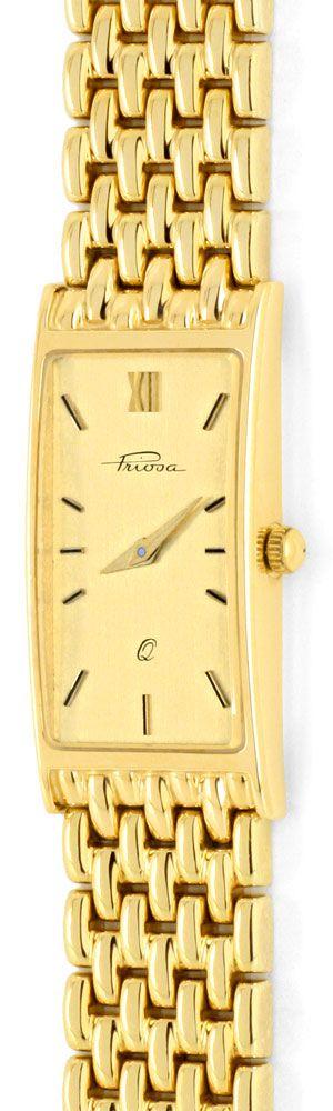 Foto 2, Massiv Goldene Damen Armbanduhr Goldband, Priosa Topuhr, U1155