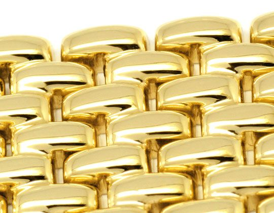 Foto 4, Massiv Goldene Damen Armbanduhr Goldband, Priosa Topuhr, U1155