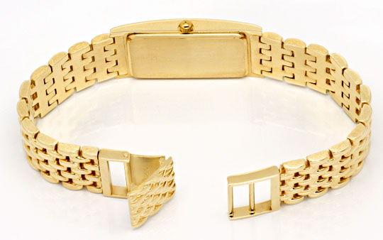 Foto 5, Massiv Goldene Damen Armbanduhr Goldband, Priosa Topuhr, U1155