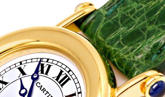 Foto 4, Cartier Diabolo Damenuhr Gelbgold, Faltschliesse Topuhr, U1159