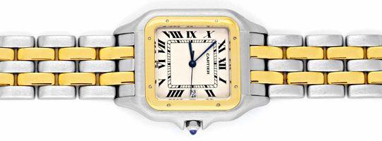 Foto 1, Rarität Cartier XXL Uhr Panthere Stahlgold Topuhr Neuw., U1161