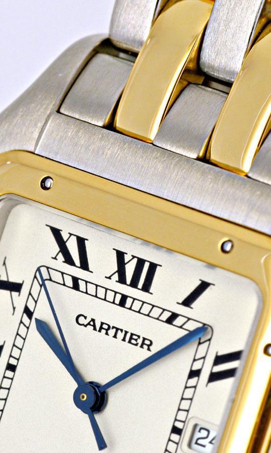 Foto 4, Rarität Cartier XXL Uhr Panthere Stahlgold Topuhr Neuw., U1161