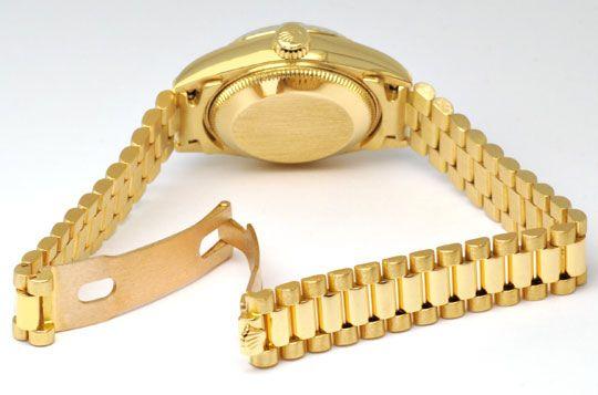 Foto 3, Rolex Datejust Damen Gold, Diamant Zifferblatt, Geprüft, U1166