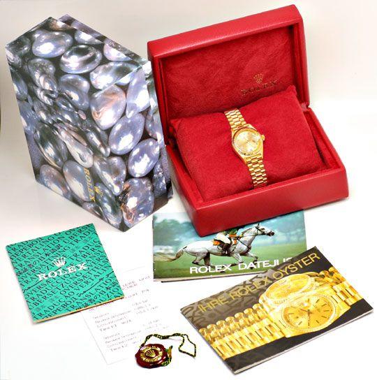 Foto 4, Rolex Datejust Damen Gold, Diamant Zifferblatt, Geprüft, U1166