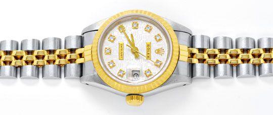 Foto 1, Rolex Datejust Da Stahlgold, Diamant Zifferblatt Topuhr, U1169