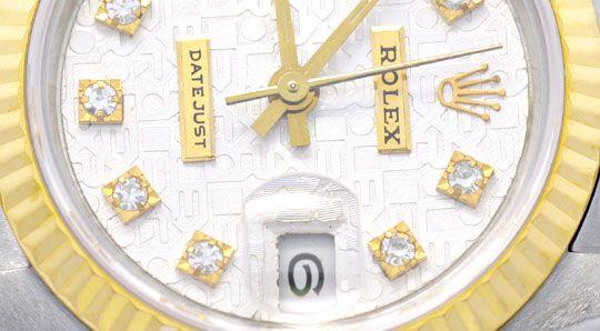 Foto 3, Rolex Datejust Da Stahlgold, Diamant Zifferblatt Topuhr, U1169