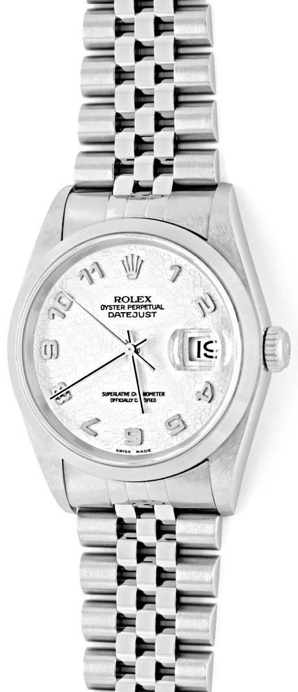 Foto 2, Rolex Datejust Hr Stahl Oyster Perpetual Jubilee Topuhr, U1170