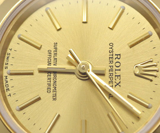 Foto 3, Rolex Lady Oyster Perpetual Gelbgold Topuhr Neuzustand!, U1172