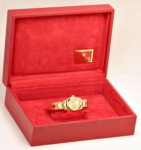 Foto 5, Rolex Lady Oyster Perpetual Gelbgold Topuhr Neuzustand!, U1172