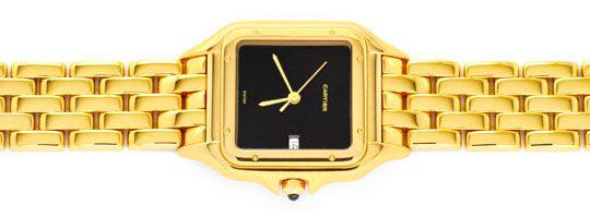 Foto 1, Cartier Panthere Gelb Gold Herren Neuzustand Zertifikat, U1176