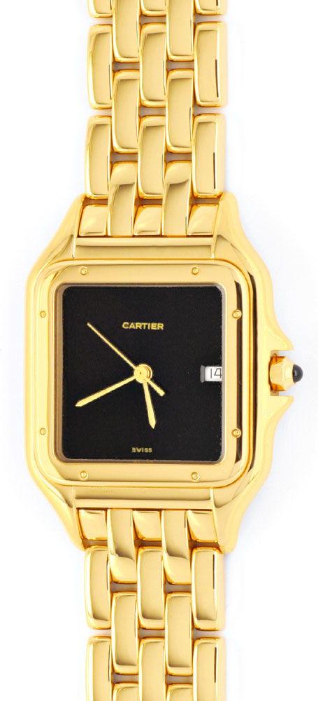 Foto 2, Cartier Panthere Gelb Gold Herren Neuzustand Zertifikat, U1176