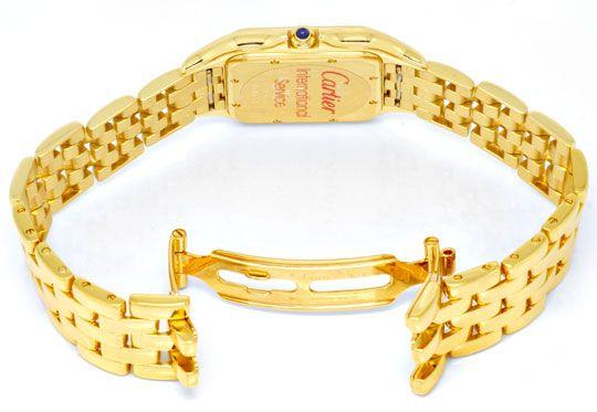 Foto 3, Cartier Panthere Gelb Gold Herren Neuzustand Zertifikat, U1176