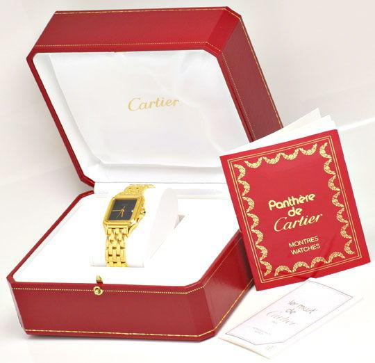 Foto 4, Cartier Panthere Gelb Gold Herren Neuzustand Zertifikat, U1176