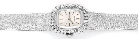 Foto 1, Damen Weissgold Uhr, Brillianten Kranz 1,0 Carat Topuhr, U1182