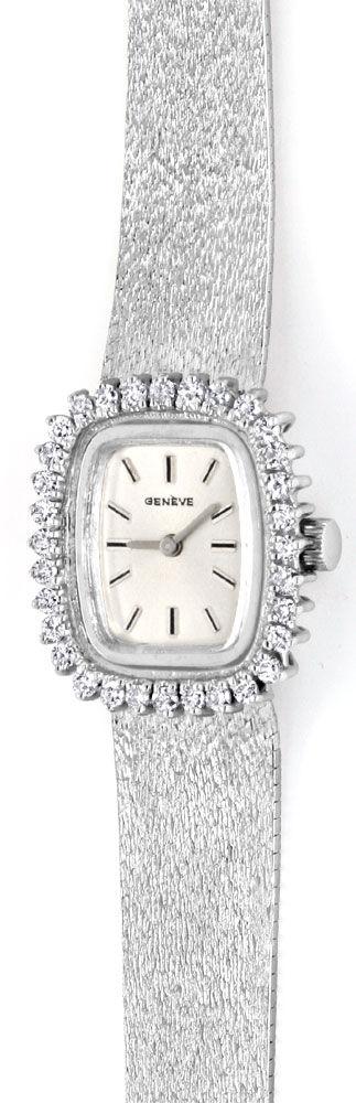 Foto 2, Damen Weissgold Uhr, Brillianten Kranz 1,0 Carat Topuhr, U1182