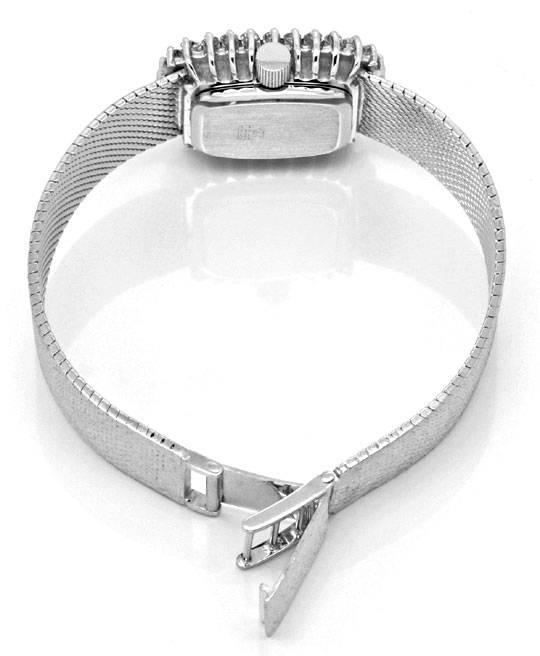 Foto 5, Damen Weissgold Uhr, Brillianten Kranz 1,0 Carat Topuhr, U1182