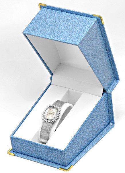 Foto 6, Damen Weissgold Uhr, Brillianten Kranz 1,0 Carat Topuhr, U1182