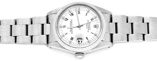 Foto 1, Rolex Date Herren Armband Uhr Oyster Edel Stahl, Topuhr, U1188