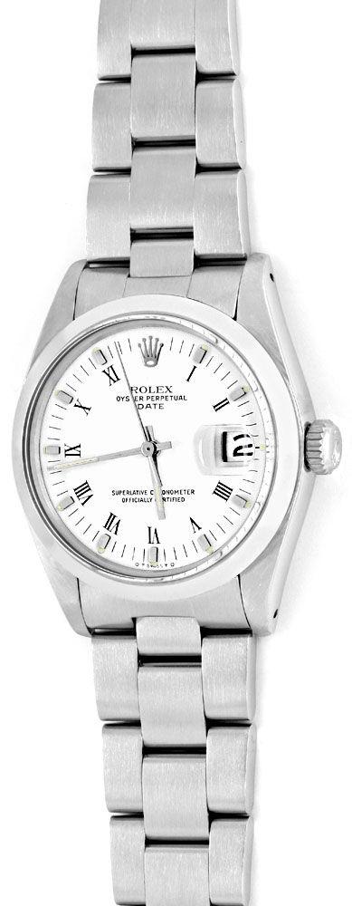 Foto 2, Rolex Date Herren Armband Uhr Oyster Edel Stahl, Topuhr, U1188