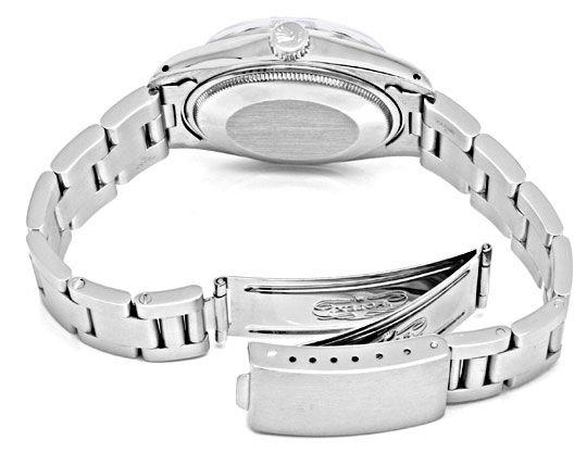 Foto 5, Rolex Date Herren Armband Uhr Oyster Edel Stahl, Topuhr, U1188