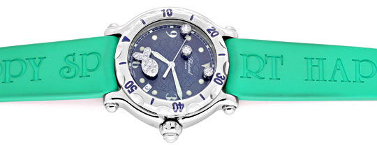 Foto 1 - Chopard Diamant Uhr Happy Sport Happy Fish Beach Topuhr, U1192