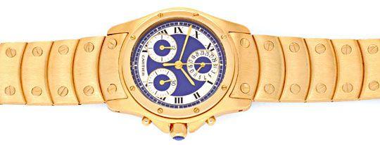 Foto 1, Uhr Cartier Santos Ronde Galbee Chronograph 18K Geprüft, U1195